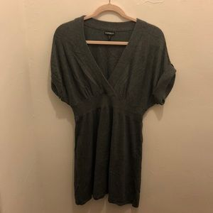 Express grey sweater dress